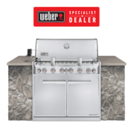 Summit S660 Stainless NG (Natural Gas) Built In BBQ 6 Burner