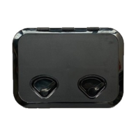 375MM X 370MM ABS 2 Latch Hatch - Black