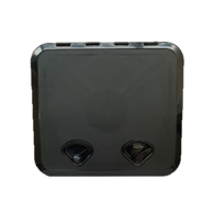 520MM X 460MM ABS 2 Latch Hatch - Black