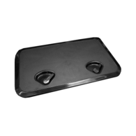 606MM X 353MM ABS 2 Latch Hatch - Black