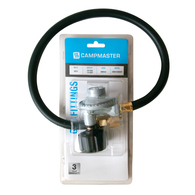 QCC Gas Cylinder Regulator with 600mm Hose and Gauge