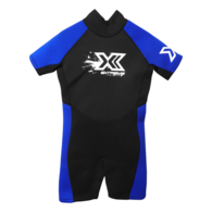 Extreme Limits Youth Steamer Suit - Black / Blue