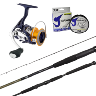 """Revros LT3000-C / Legalis 661MHFS Slowjig Spin Combo PE 1-2 6'6"""" with Braid"""