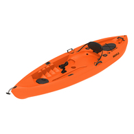10' (3.05m) Deluxe Fishing kayak w/Wheel, Paddle and Rodholders - Orange