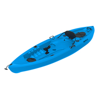 10' (3.05m) Deluxe Fishing kayak w/Wheel, Paddle and Rodholders - Blue