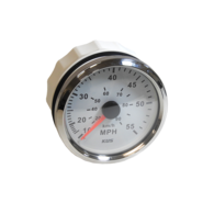 Amega 75mm Speedometer 10-50 mph (head only)