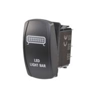 Light Bar Rocker Switch with Blue LED - 20AMP 12V
