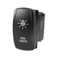 Nav Light Rocker Switch with LED - 12/24v
