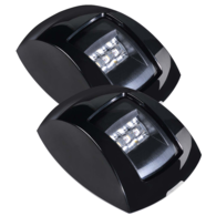 9-33V Port & Starboard Led Lamp Set - Black