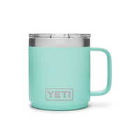 Rambler 10oz mug With Lid & Handle in Seafoam