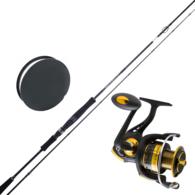 "Nexium Gold 2500 / Squid Wrangler 8'6"" 2-Piece Squid Spin Combo with Braid"