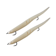 "Slug-Go 9"" Rigged Softbait 2-Pack - Albino Shad"