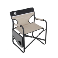 Directors Plus Folding Steel Arm Chair with Side Table