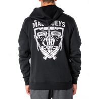 Give a Fk Hooded Pullover Fleece - Black