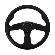 """3 Spoke 13.8"""" Steering Wheel w/Brushed Alum Centre"""