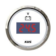 Digital Voltmeter Gauge - SS 52mm