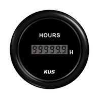 Hour Meter Gauge - Black 52mm