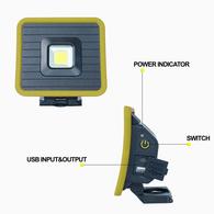 10 Watt Compact Rechargable LED Work Light - 1000 Lumens