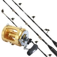 """Tiagra 80W / Tiagra Ultra 5'5"""" 37KG Fully Rollered Game Combo with Twin Butts"""