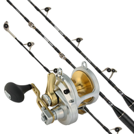Talica 50 2-Speed / Tiagra Ultra 37KG Fully Rolloered Game Combo with Twin Butts