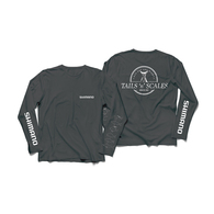 Tails n' Scales Long Sleeve Tech Shirt - Grey