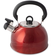 SS Deluxe Red Whistling Kettle 4.0 Litres