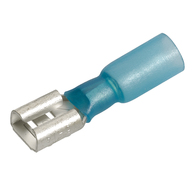 Blue Female Heatshrink Blade Terminal 2.5-3.0mm Wire - 20-Pk