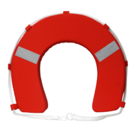 Horseshoe Lifebuoy Red w/Reflectors