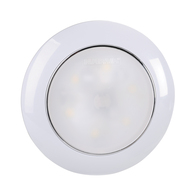 12v 75mm Saturn Dual Colour LED Red/White Lamp - White Housing