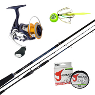 "Revros 3000DX / Bluebacker 662MS Slowjig Spin Combo PE 0.8-1.5 6'6"" with Braid"