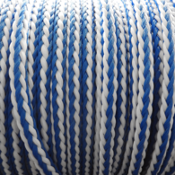 8mm Braided Floating Water Ski Rope (P/Mtr) - Blue/White