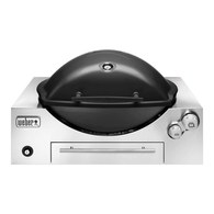 Weber Q3600 NG (Natural Gas) In-Built Family Barbeque (BBQ) Grill/Black