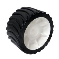 Trailer H/Duty Wobble Roller Wheel - Black - 130mm