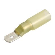 Yellow Male Heatshrink Blade Terminal 5.0-6.0mm Wire - 15-Pk