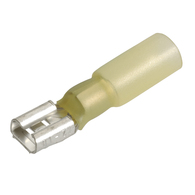 Yellow Female Heatshrink Blade Terminal 5.0-6.0mm Wire - 15-Pk