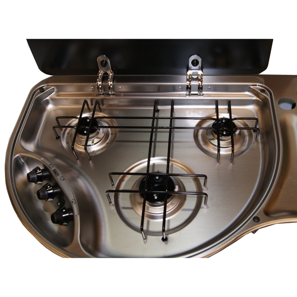 3 Burner Ss Hob With Seperate Sink | Smart Marine