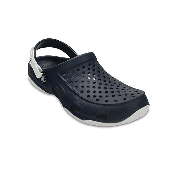dc78f1be118 Crocs Swiftwater Mens Deck Clog ~ Navy White