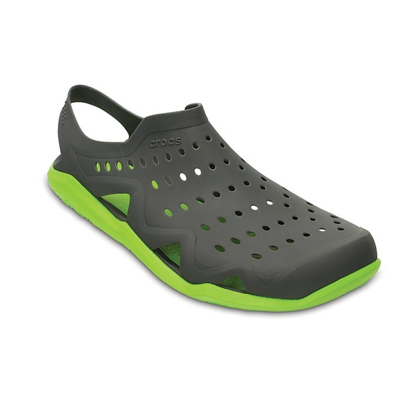 313f9f5afcd3 Crocs Swiftwater Mens Wave Sandal ~ Graphite Volt Green