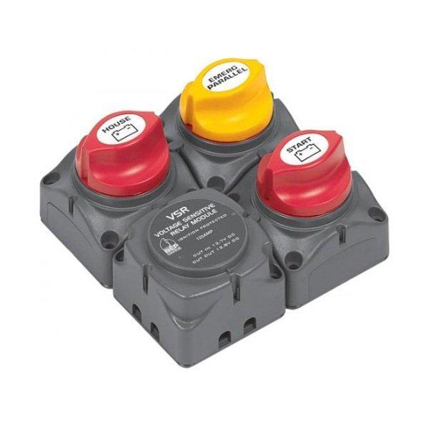 716 sq square battery switch cluster w dvsr smart marine. Black Bedroom Furniture Sets. Home Design Ideas