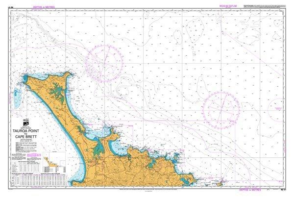 Nz 51 hydrographic nautical chart tauroa point to cape brett