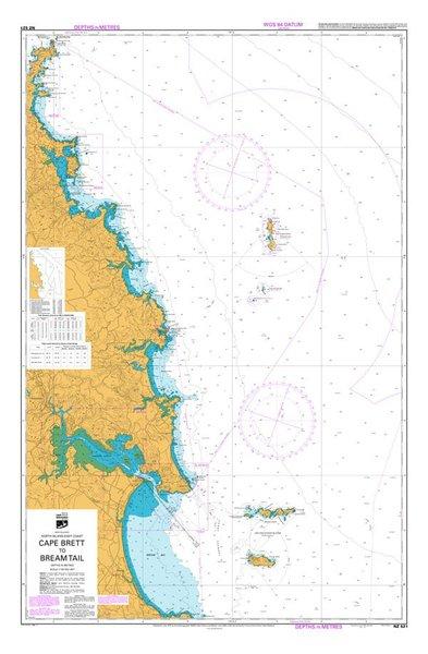 Nz 521 Hydrographic Nautical Chart- Cape Brett To Bream