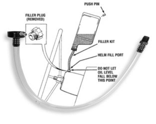 Seastar Hydraulic Steering Fluid Fill Kit
